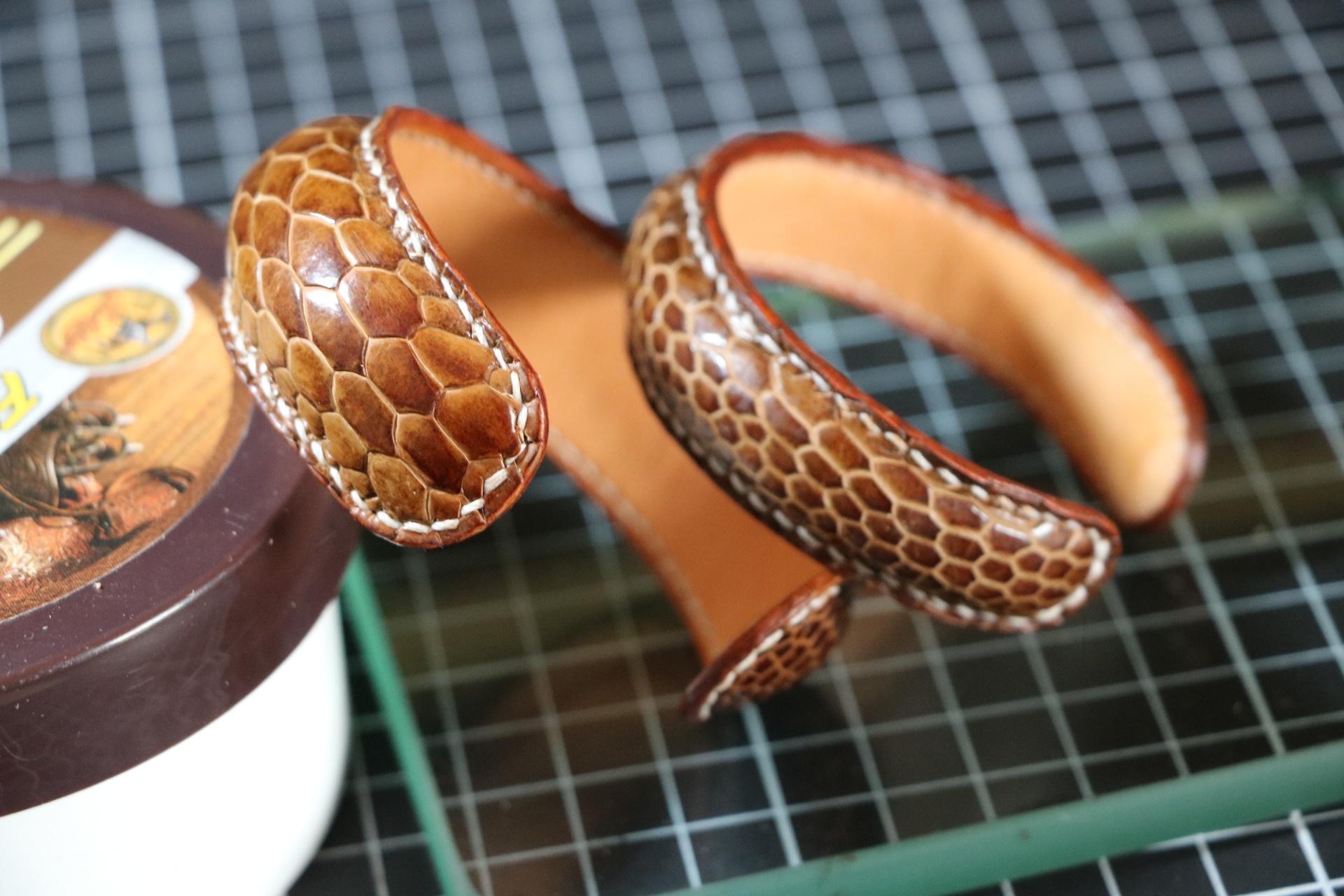 鸟类脚皮手工制作手环手镯手表带