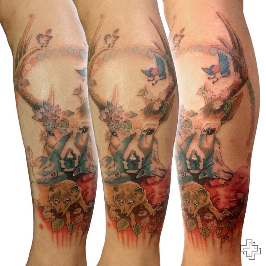 一组彩色纹身|其他手工|手工艺|2nu7lg - 原创设计