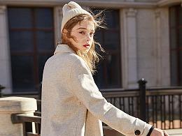 欧美风女式毛大衣