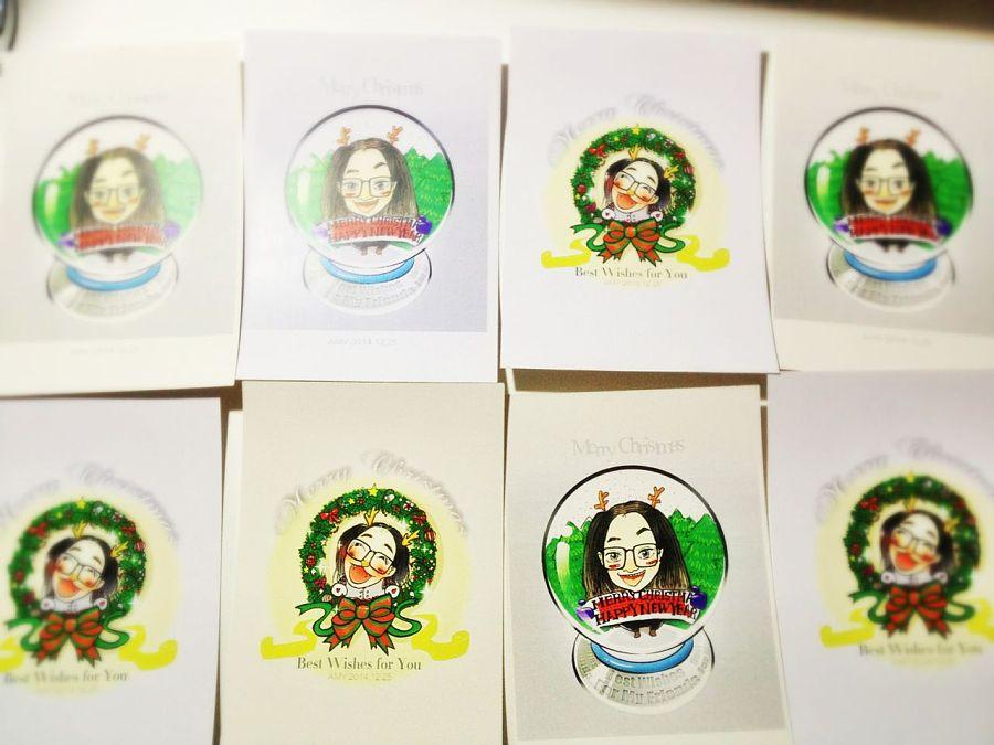 2014年{圣诞节}手绘明信片们|涂鸦/潮流|插画|4oreve