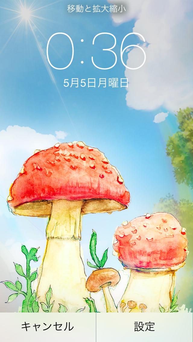 毒红蘑菇水彩手机壁纸