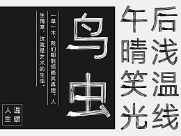 字体设计实验 | 鸟虫体