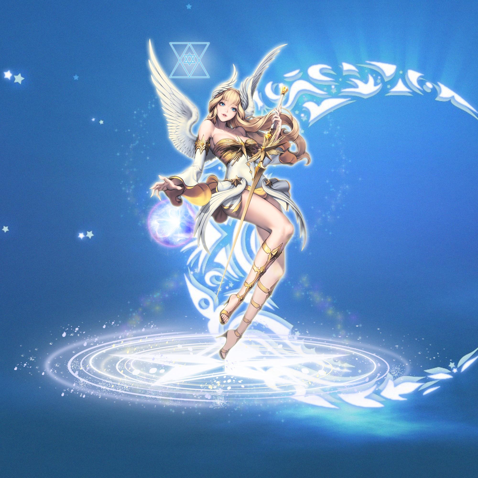 简单梦幻精灵和天使合成图片