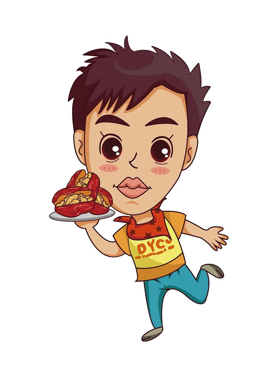 枣核插画(第一次创作Q版插画)|男孩商业|人物|X踏青的风日教学设计图片