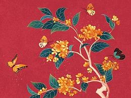 中秋节国风插图