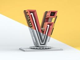 C4D-字母V