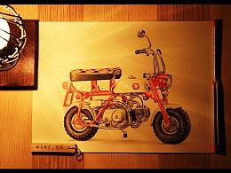 【吾爱罗_手绘】——彩铅摩托之《带我重回七龙珠》