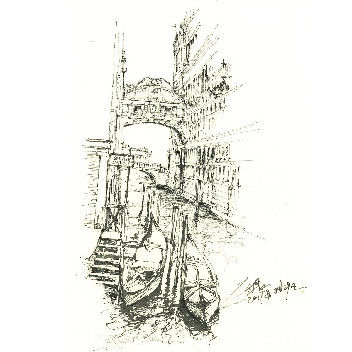 【欧洲建筑手绘】|纯艺术|钢笔画|三水00 - 原创作品
