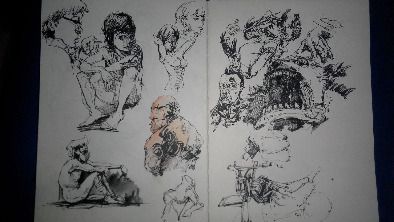 我的手绘本 插画 插画习作 进击的金鱼图片