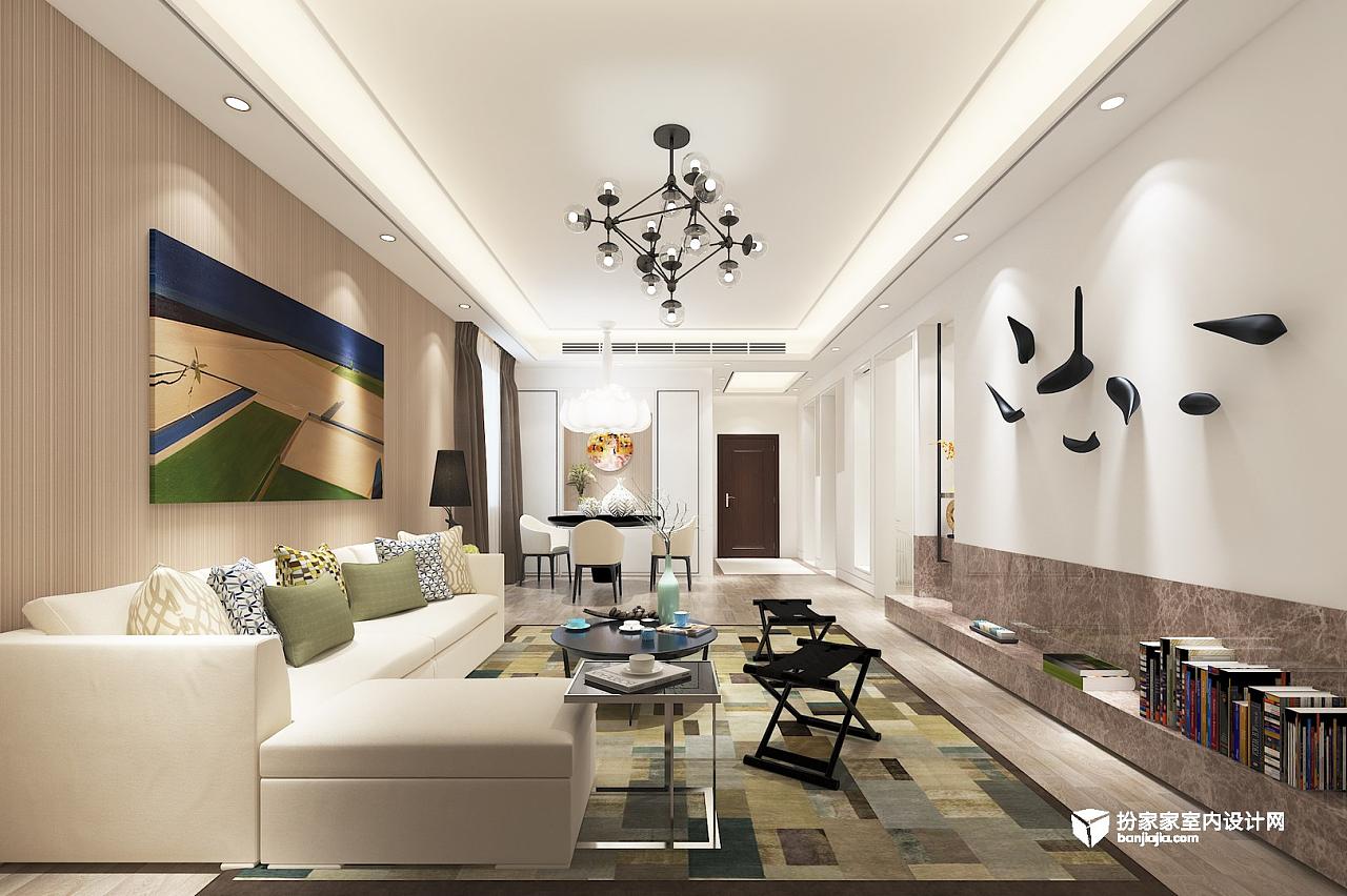 室内设计效果图-芳芳-现代简约风格厨房