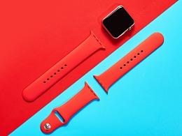苹果iwatch手表表带、数码产品拍摄 商业广告产品画册