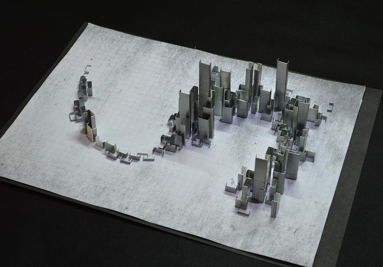 立体构成练习-城市图片