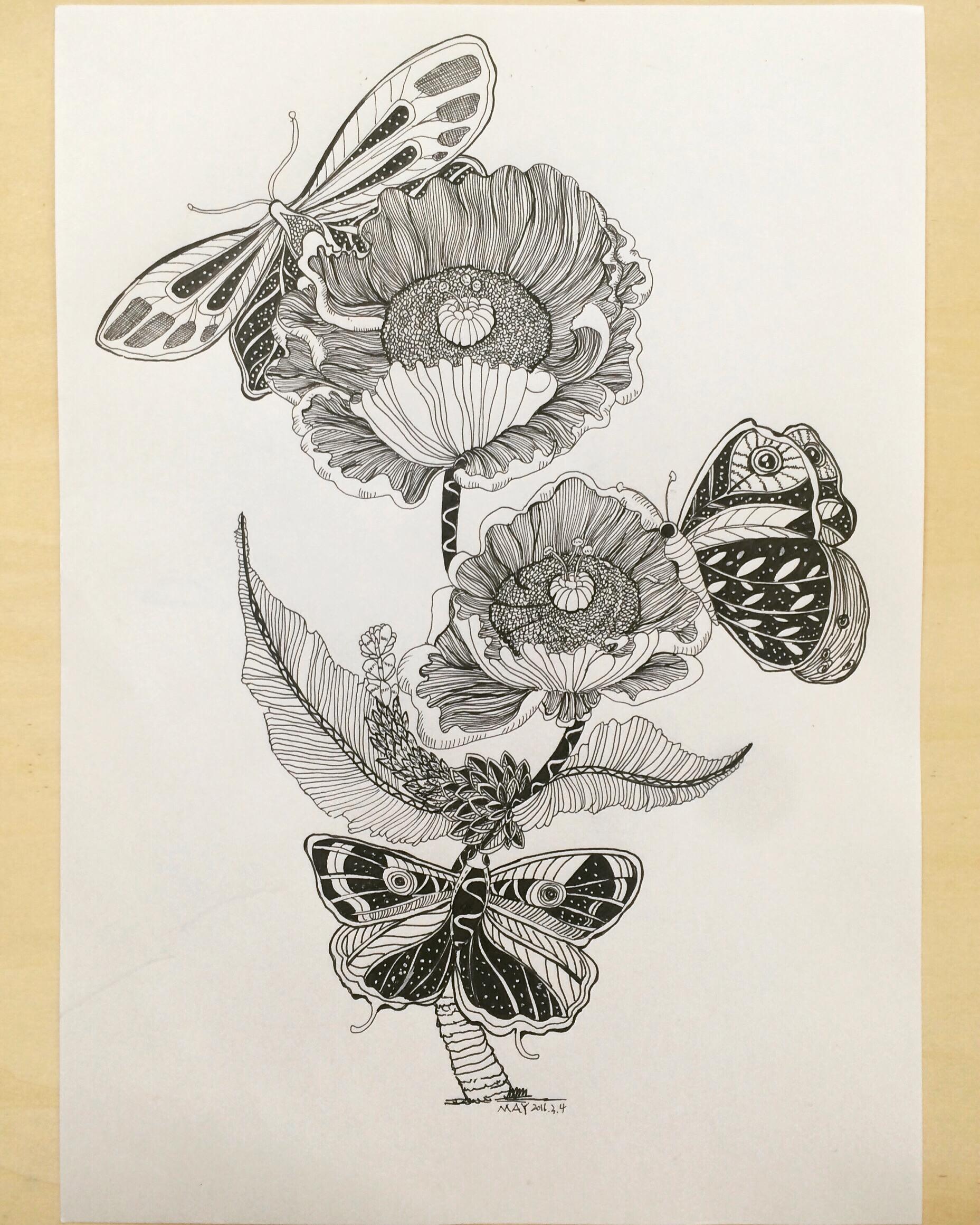 黑白手绘练习|平面|图案|湄卿eyexiu - 原创作品