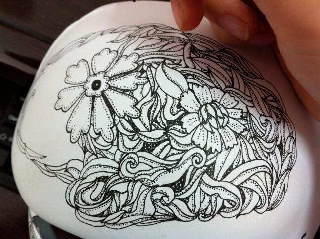 手绘线体面具——花主题,鱼主题