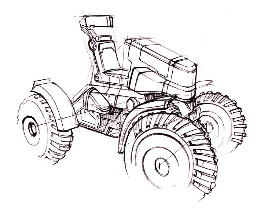沙滩越野车设计项目【设计手绘效果图】|交通工具