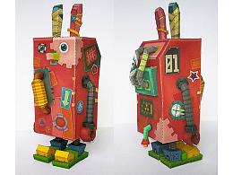 监狱兔-机器兔子_纸模型设计