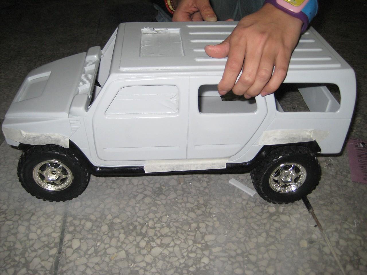 悍马h2汽车模型手工制作过程