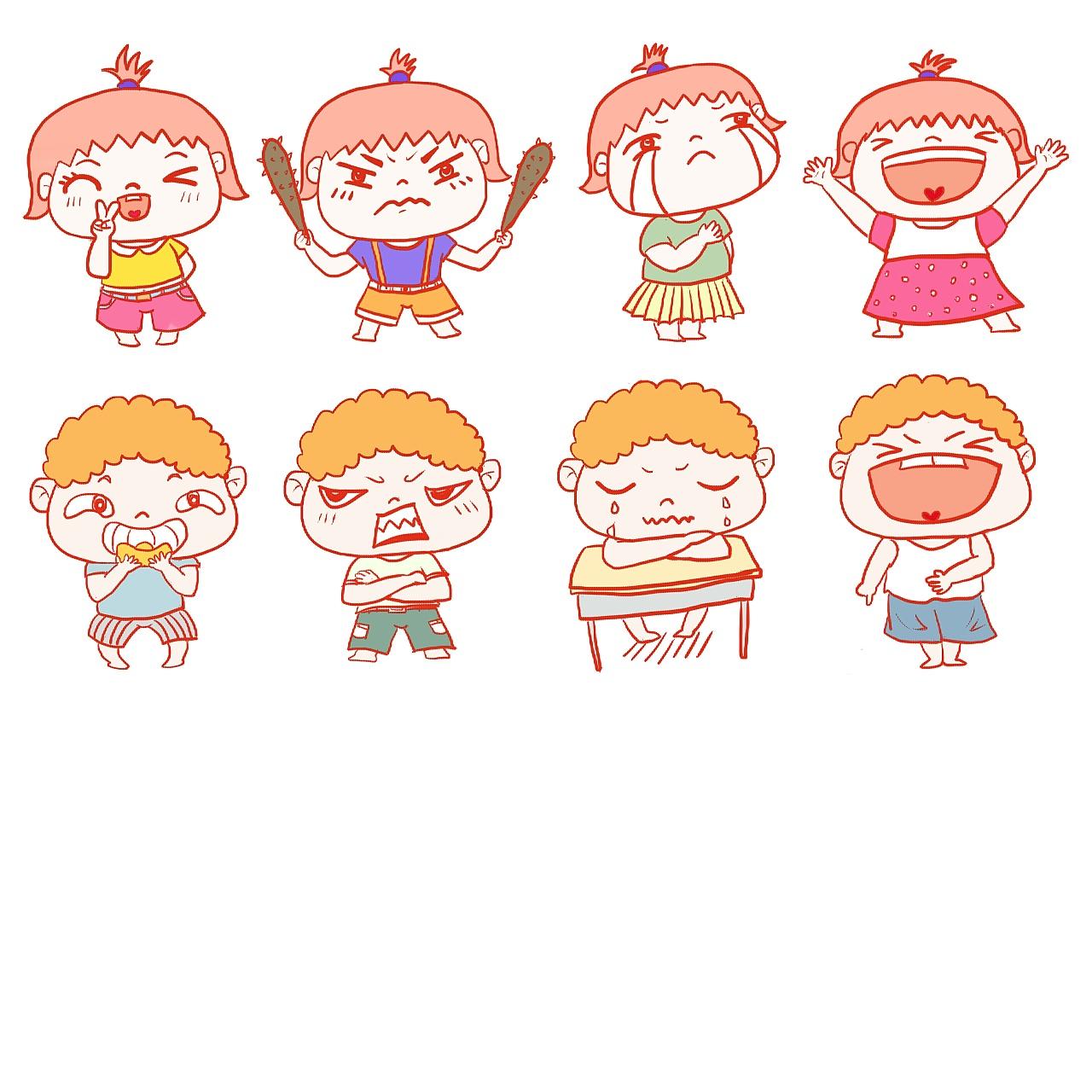 可爱表情|网络|表情头像|高木英子-原创作品微信动漫小表情包图片