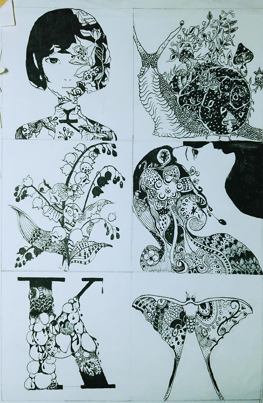 创意黑白图案