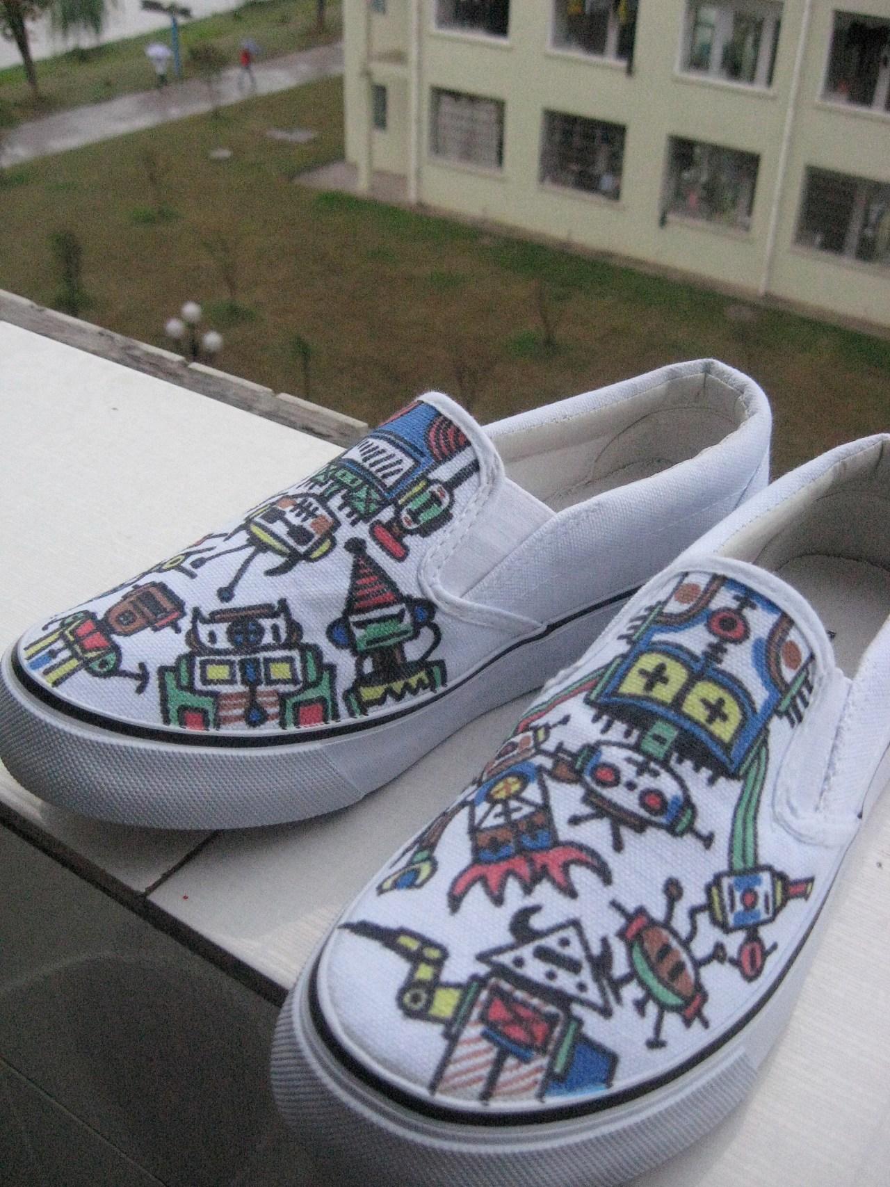 我的手绘鞋作品