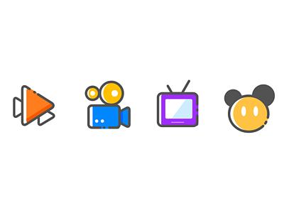 三角形,录视频,电视机,米老鼠图标图片