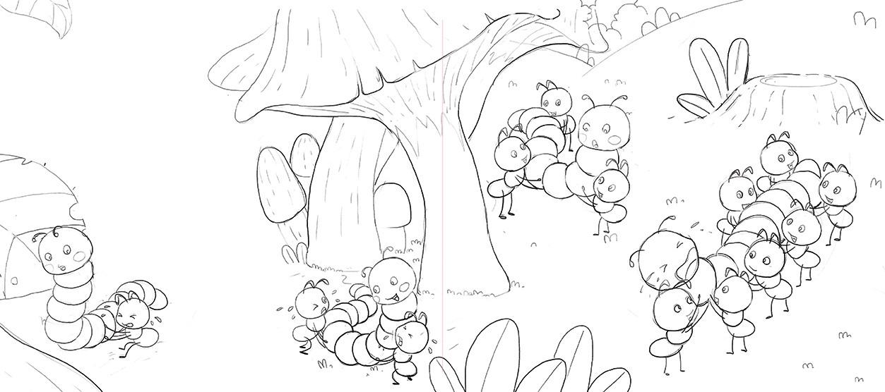 插画搬虫虫|蚂蚁|插画儿童|yoyooo-原创作品-如何做大龙虾图片
