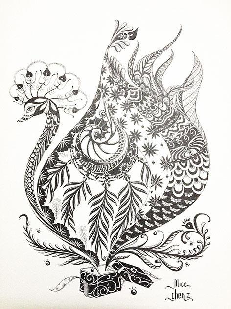 黑白-天鹅