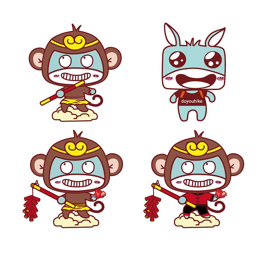 衣服图案设计带个猴子