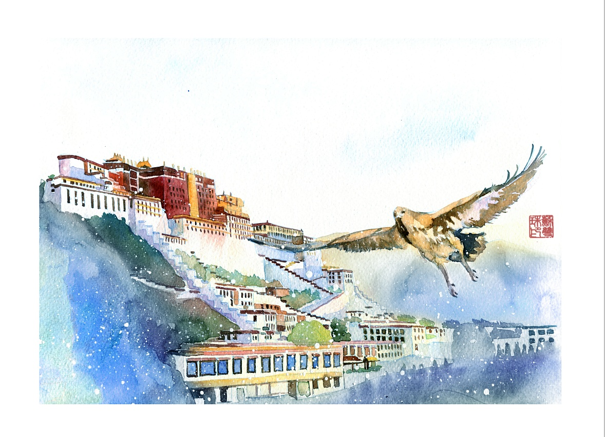 手绘文艺系列——《仓央嘉措》