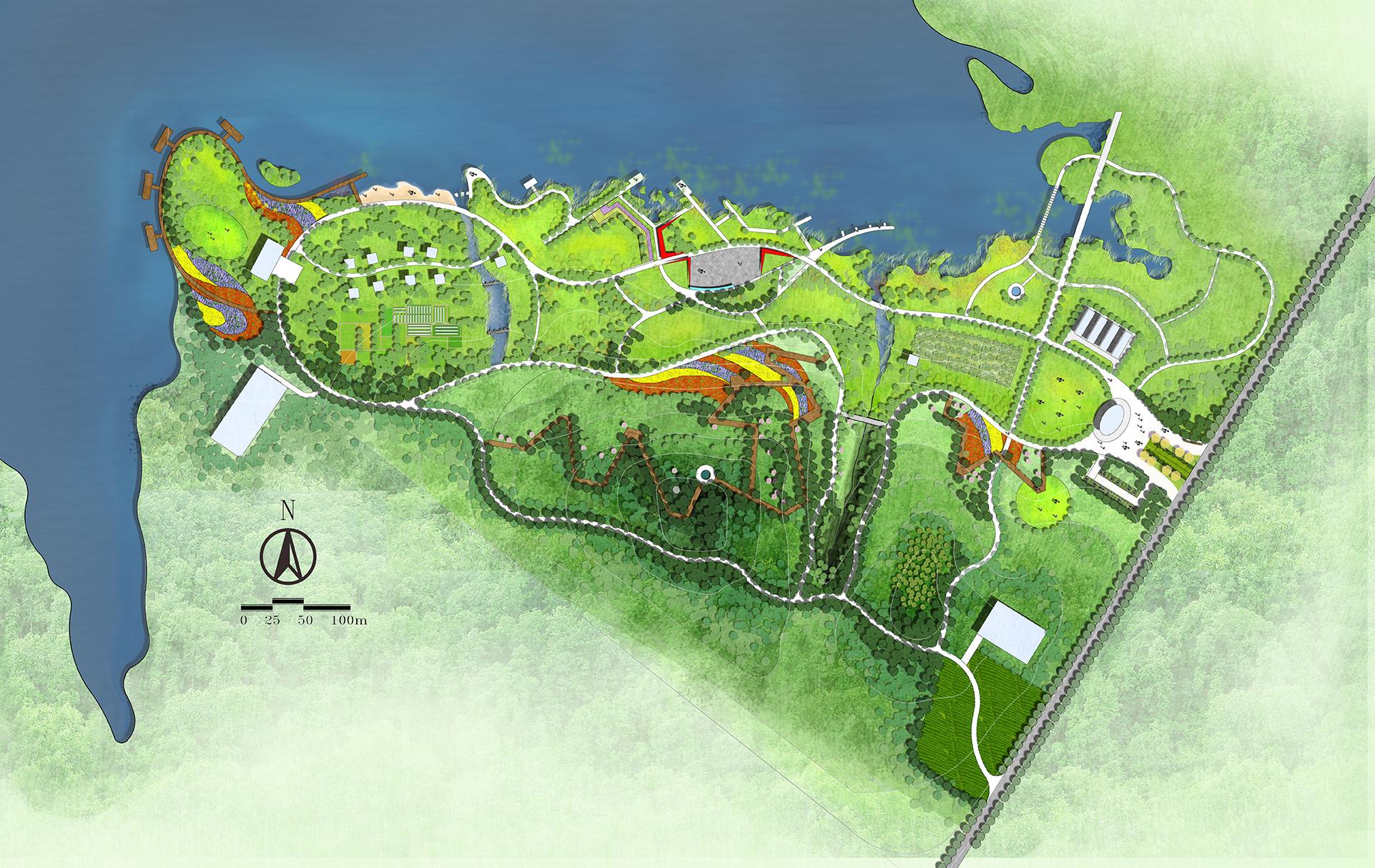 一个生态农庄的平面表现|空间|景观设计|小梁jg