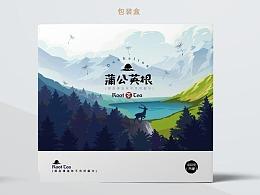 长白山蒲公英茶包装设计