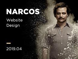 美剧《Narcos》页面设计稿