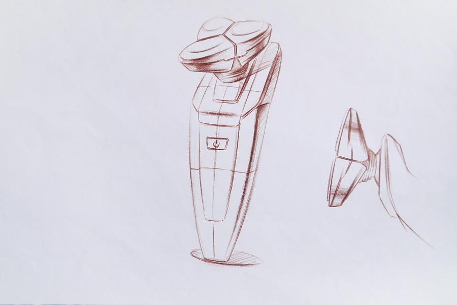 【设计手绘】彩铅手绘效果图|电子产品|工业/产品