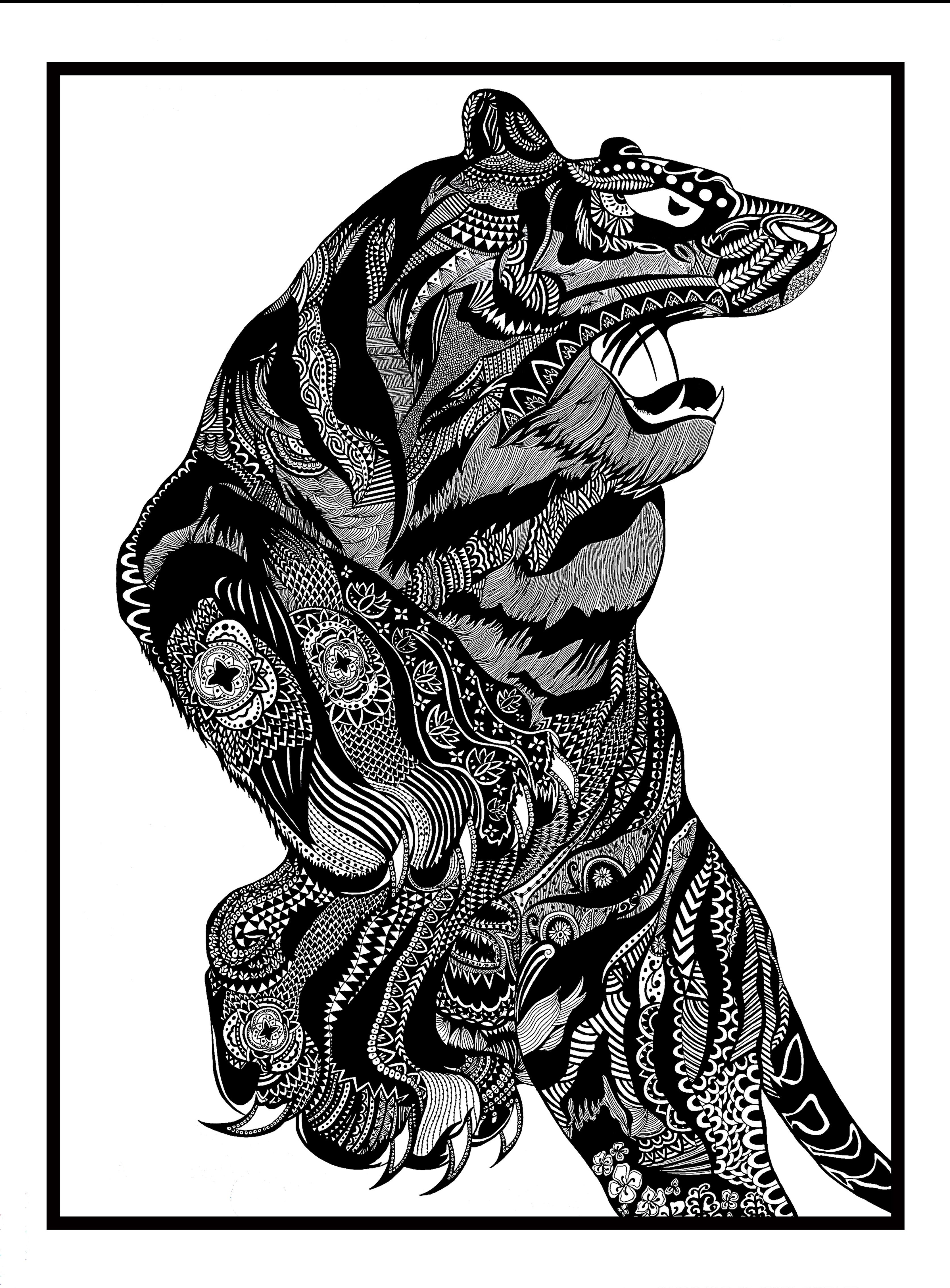 民族风系列黑白装饰画设计——生肖说图片