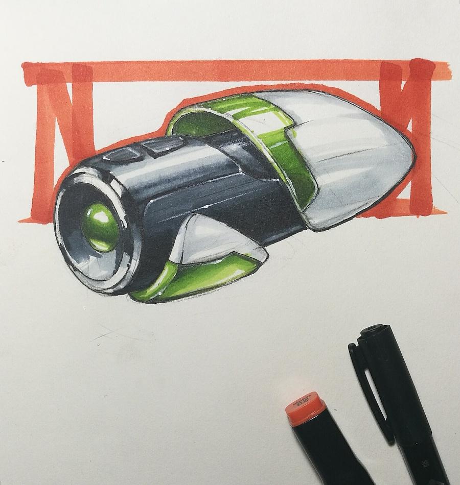 工业设计马克笔手绘 不定期更新|电子产品|工业/产品