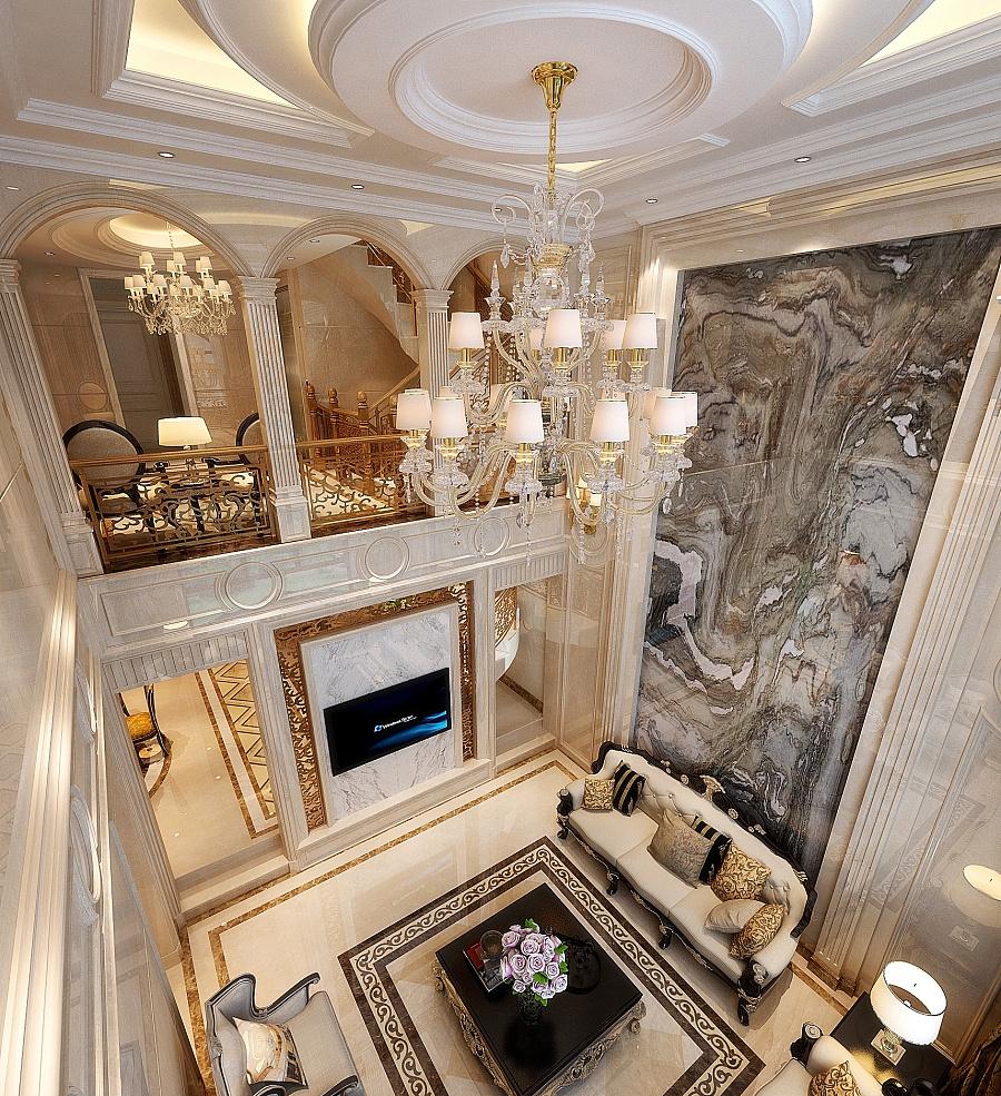 国瑞城欧式古典别墅装修设计效果图