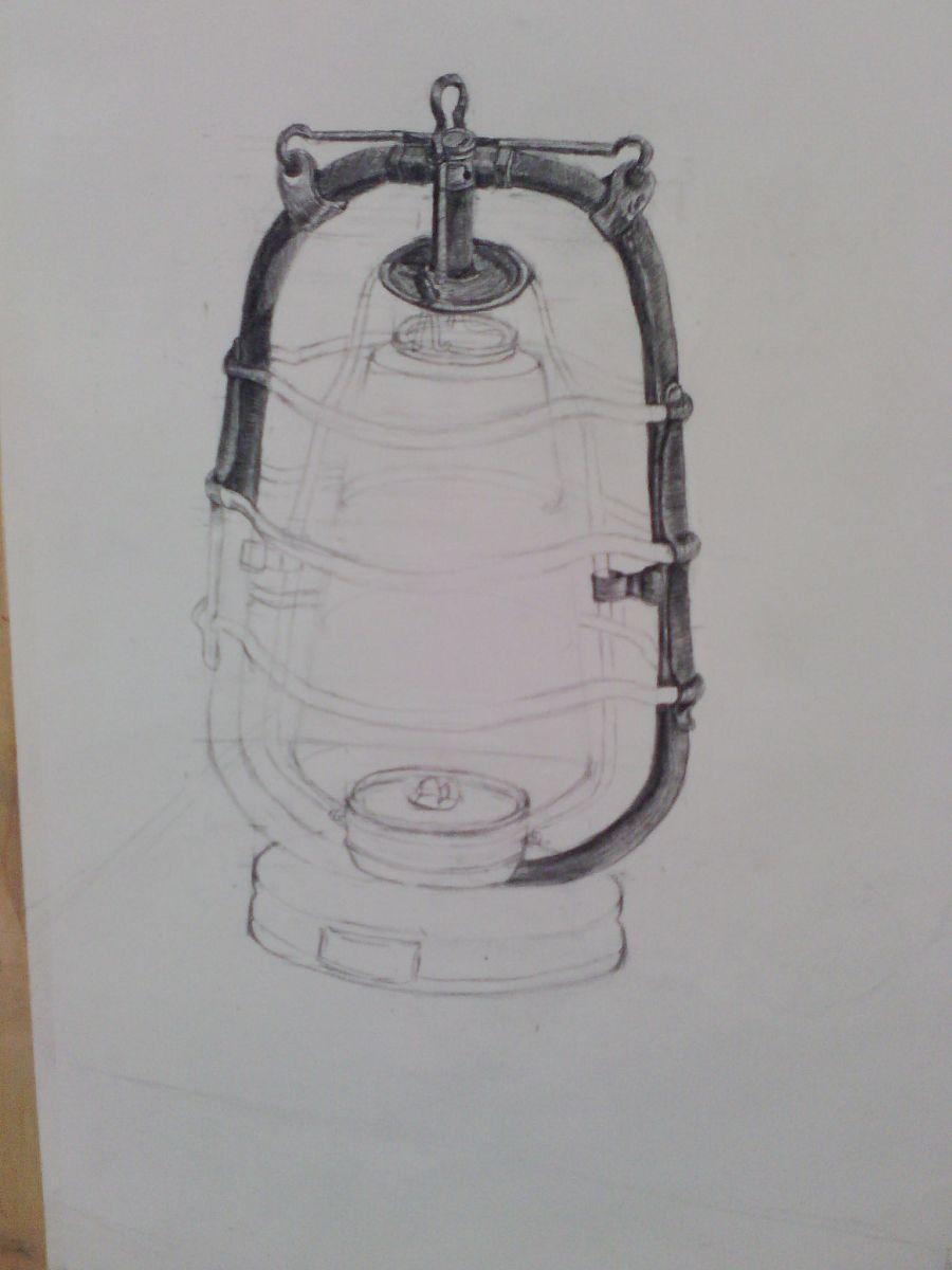 素描马灯步骤图|绘画习作|插画|mss木十十