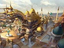沙漠建筑原画