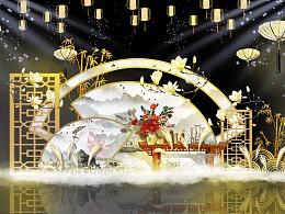 中式婚礼舞美设计美陈