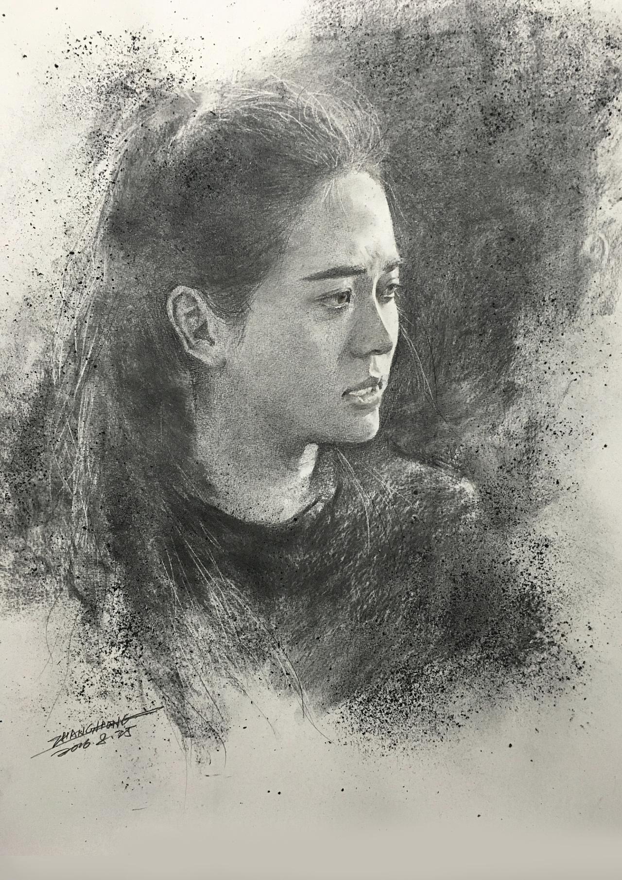 贵阳险峰艺术学院张洪素描|纯艺术|素描|贵州美