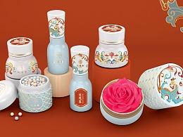 《花汉春》国风美妆包装设计