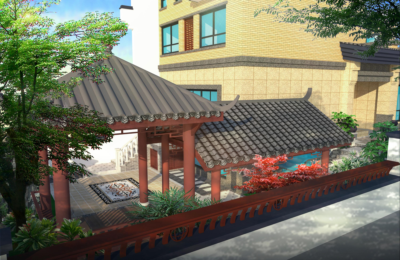 中式风格庭院|空间|建筑设计|张柳玲 - 原创作品