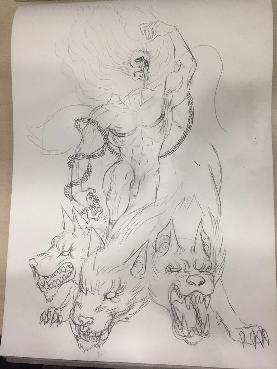 冥王哈迪斯 - 手绘手稿