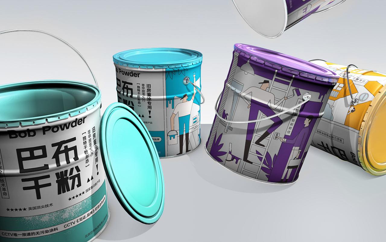 干粉涂料油漆家居品牌包装西安厚启设计图片