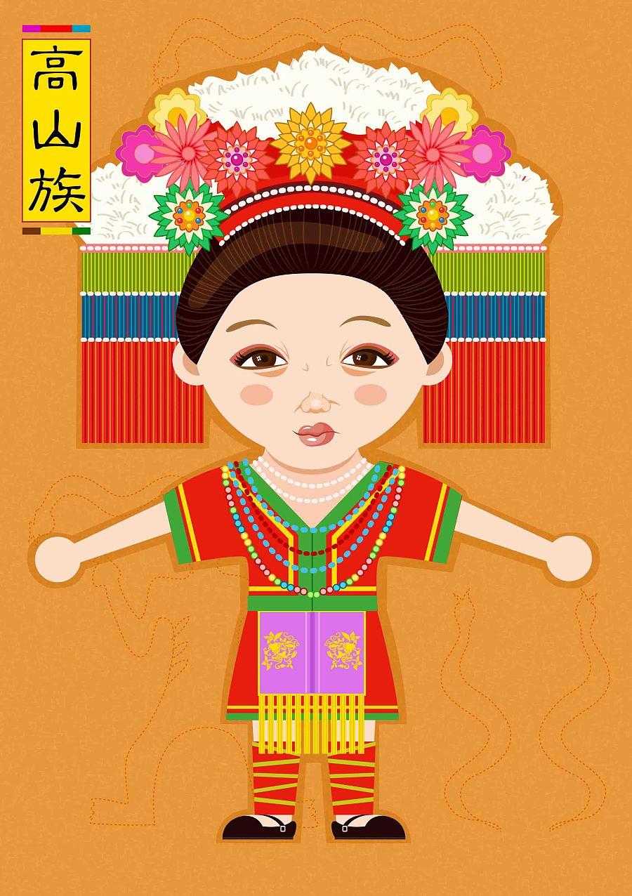 少数民族服饰卡通_少数民族服饰推广·卡通人物形象设计|图案|平面|奶奶Tina07-原创