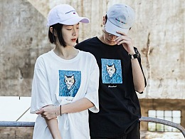 RELNLE X 2018春夏男t恤圆领街舞欧美嘻哈宽松bf情侣款
