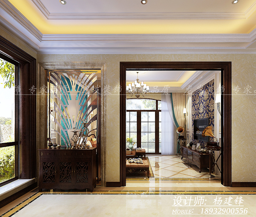 【房屋类型】别墅 【建筑面积】240 六室三厅 【户型】钻石郡 【工程造价】 170000 【装修风格】现代简欧 【设计说明】经过与业主的反复讨论沟通决定简欧装饰设计风格。简洁而不失奢华,欧式风格融入了现代的生活元素。简洁的设计中也带有欧式元素。简欧风格式的居室有的不只是奢华大气,更多的是惬意和浪漫。