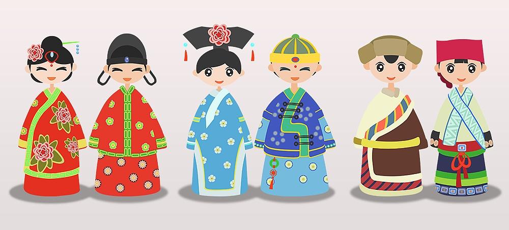 以中国漫画民族服饰为灵感创作的先创作了3组如果大家喜欢以传统19天图片