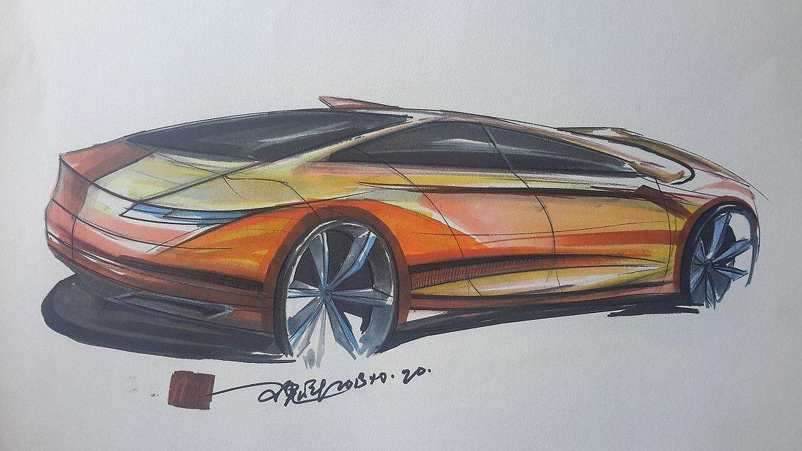 汽车手绘|工业/产品|交通工具|为未来而设计 - 原创