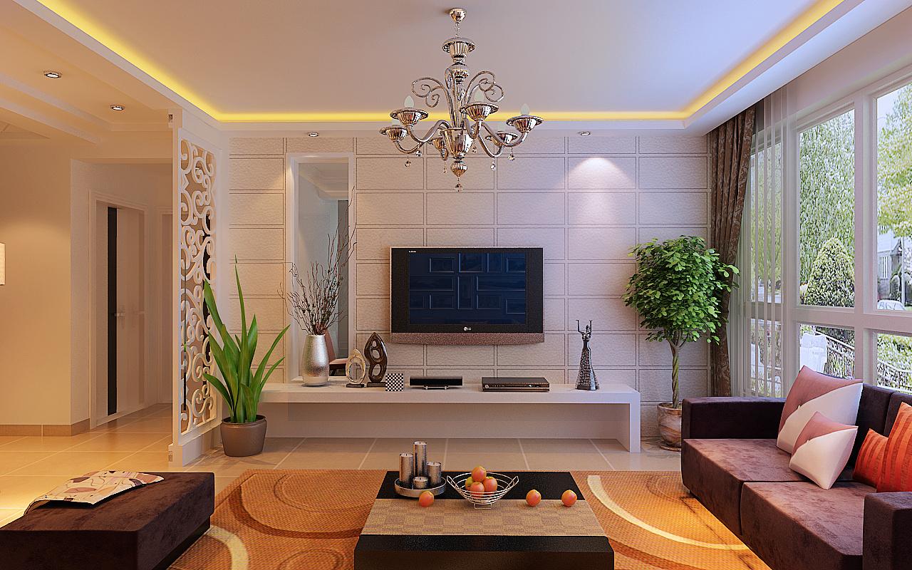 【长九中心装修设计】长九中心125平米现代简约风格效果图-房天下装饰图片